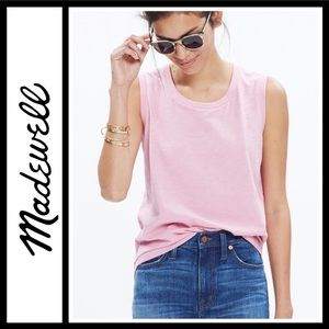Madewell Whisper Cotton Crewneck Muscle Tank NWOT